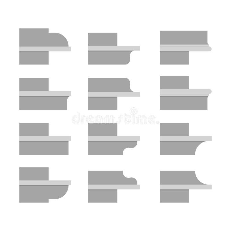 Χτίζοντας γείσο διανυσματική απεικόνιση