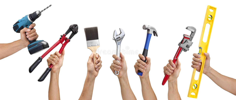 χτίζοντας εργαλεία εργαλείων χειρός στοκ φωτογραφία