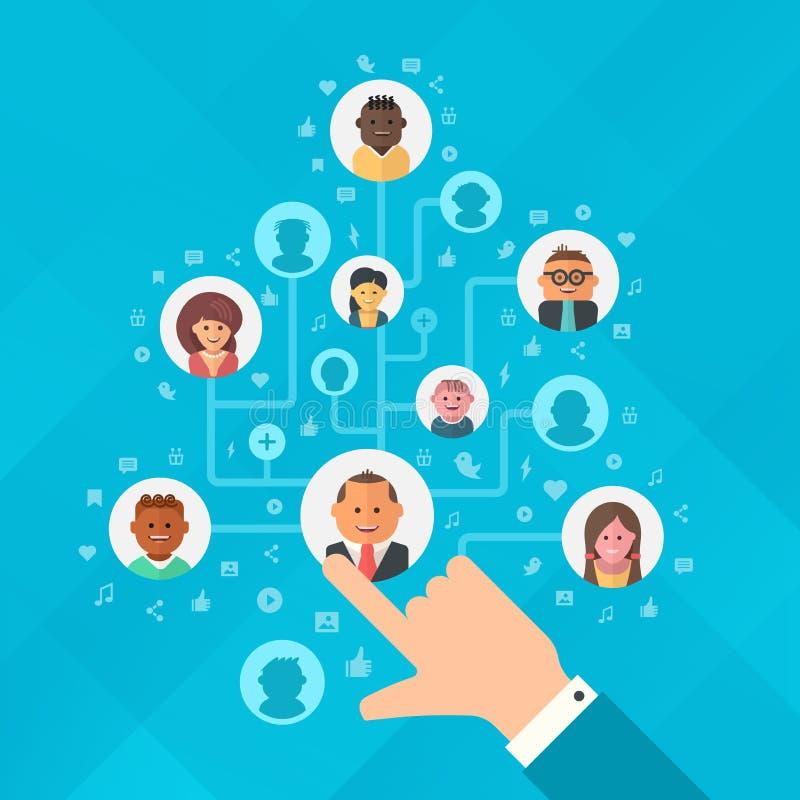 Χτίζοντας κοινωνικό ακροατήριο μέσων απεικόνιση αποθεμάτων