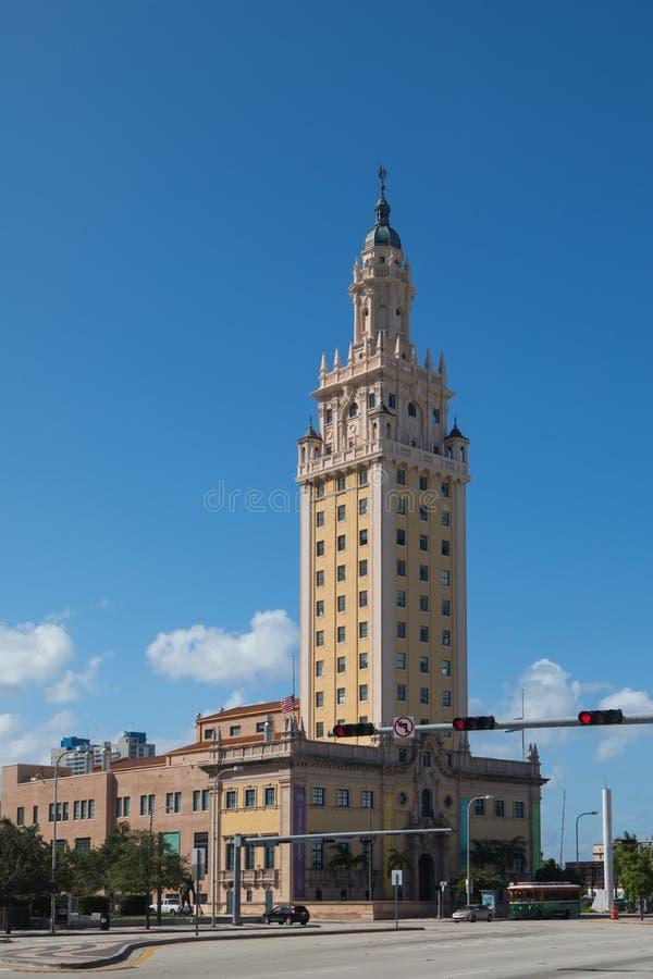 χτίζοντας κουβανικός πύργος του Μαϊάμι inmigration ελευθερίας ιστορικός στοκ εικόνες