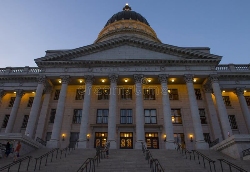 χτίζοντας κράτος Utah capitol στοκ εικόνα