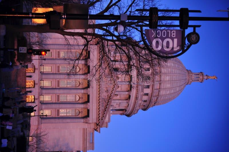 χτίζοντας κράτος Wisconsin capitol στοκ φωτογραφίες