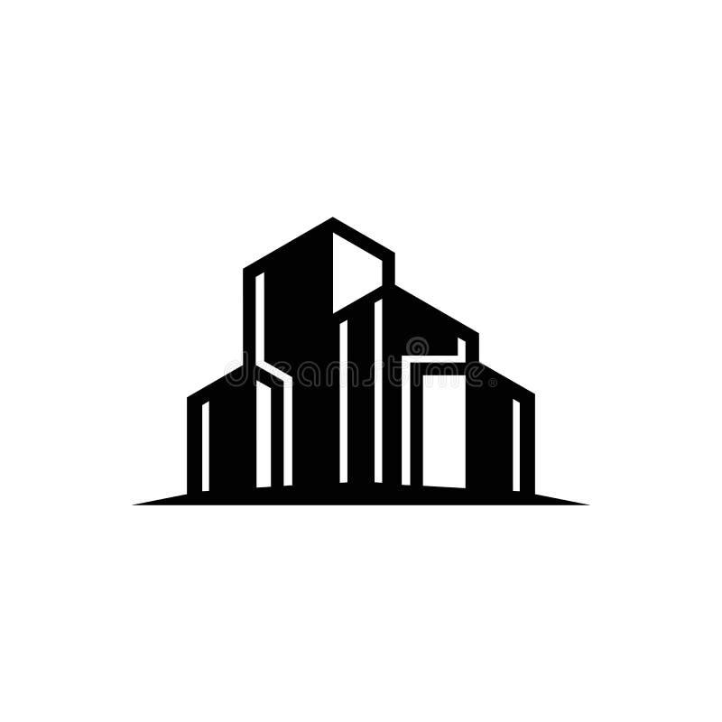 Χτίζοντας λογότυπο 2$ο πραγματικό σημάδι κτημάτων σχεδίου υπολογιστών έργου τέχνης Γραφική απεικόνιση έννοιας συμβόλων εικονικής  διανυσματική απεικόνιση