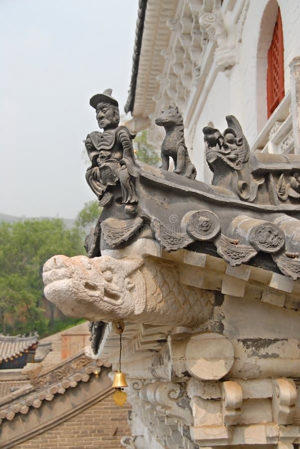χτίζοντας παλαιά στέγη της Κίνας στοκ φωτογραφία