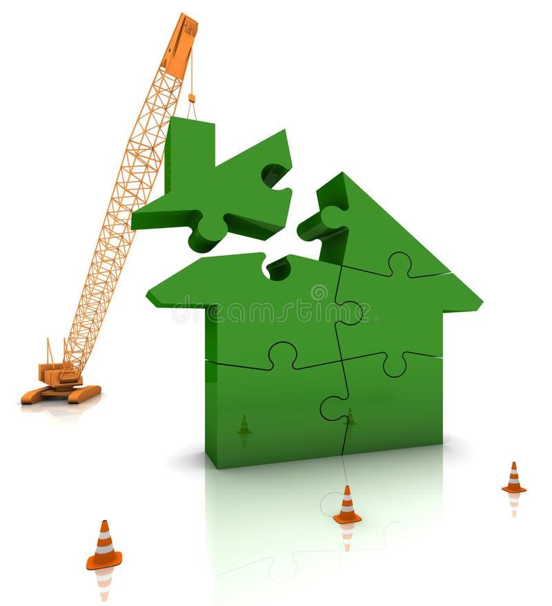 χτίζοντας πράσινο σπίτι απεικόνιση αποθεμάτων