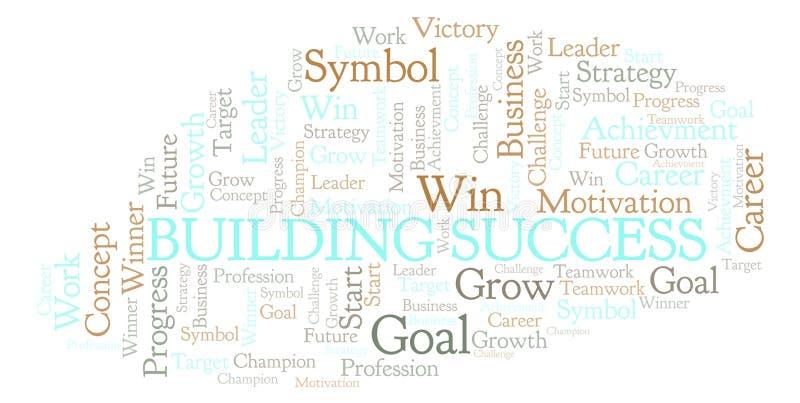 Χτίζοντας σύννεφο λέξης επιτυχίας ελεύθερη απεικόνιση δικαιώματος