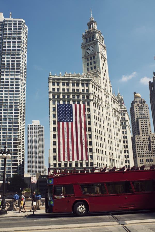 χτίζοντας το Σικάγο στο &kap στοκ φωτογραφία με δικαίωμα ελεύθερης χρήσης