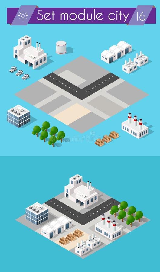 Χτίζοντας τρισδιάστατη βιομηχανία ελεύθερη απεικόνιση δικαιώματος
