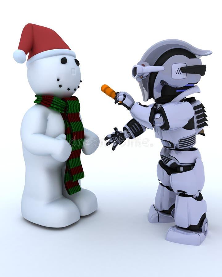 χτίζοντας χιονάνθρωπος ρ&omi ελεύθερη απεικόνιση δικαιώματος