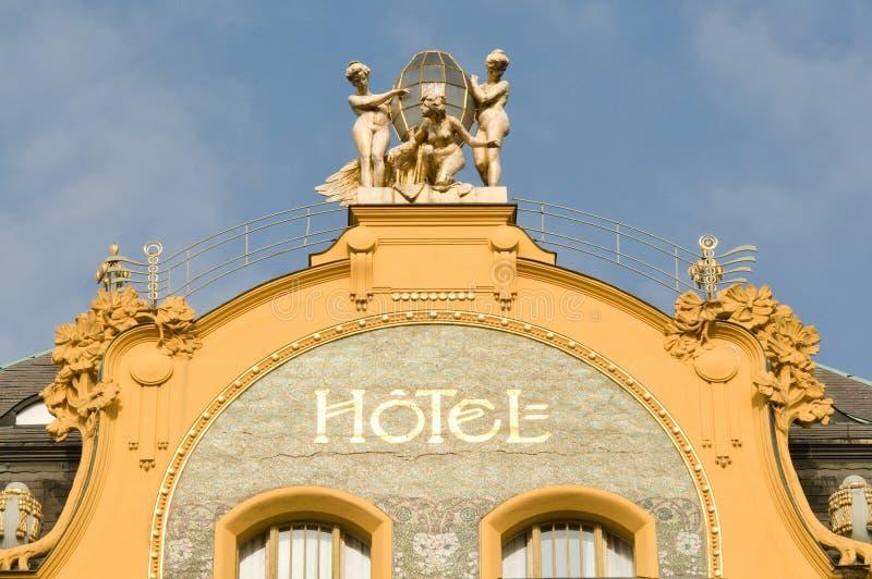 χτίζοντας ύφος σημαδιών ξενοδοχείων εργοστασίων ιστορικό στοκ εικόνα