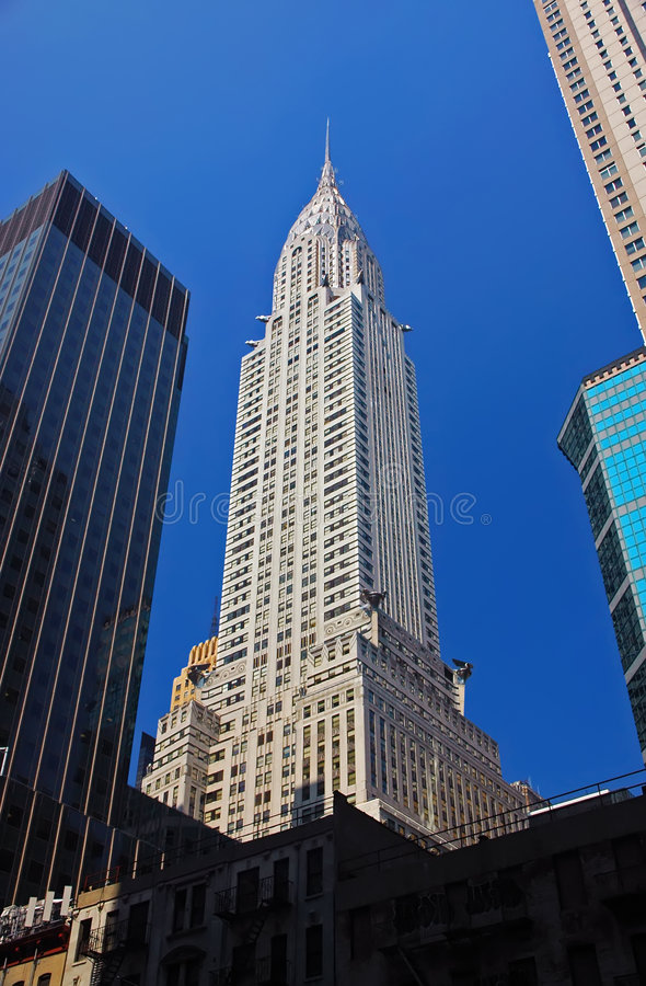 χτίζοντας chrysler Νέα Υόρκη στοκ εικόνες