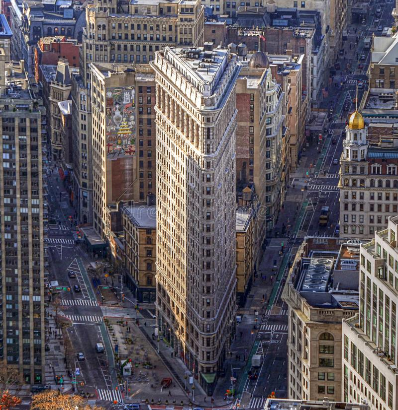 χτίζοντας flatiron Νέα Υόρκη στοκ φωτογραφίες