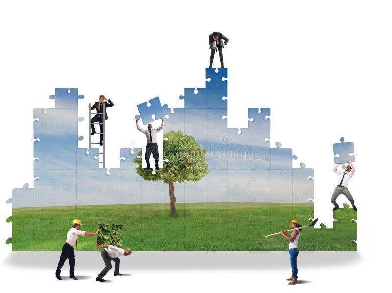 Χτίστε έναν καθαρό κόσμο στοκ φωτογραφία με δικαίωμα ελεύθερης χρήσης