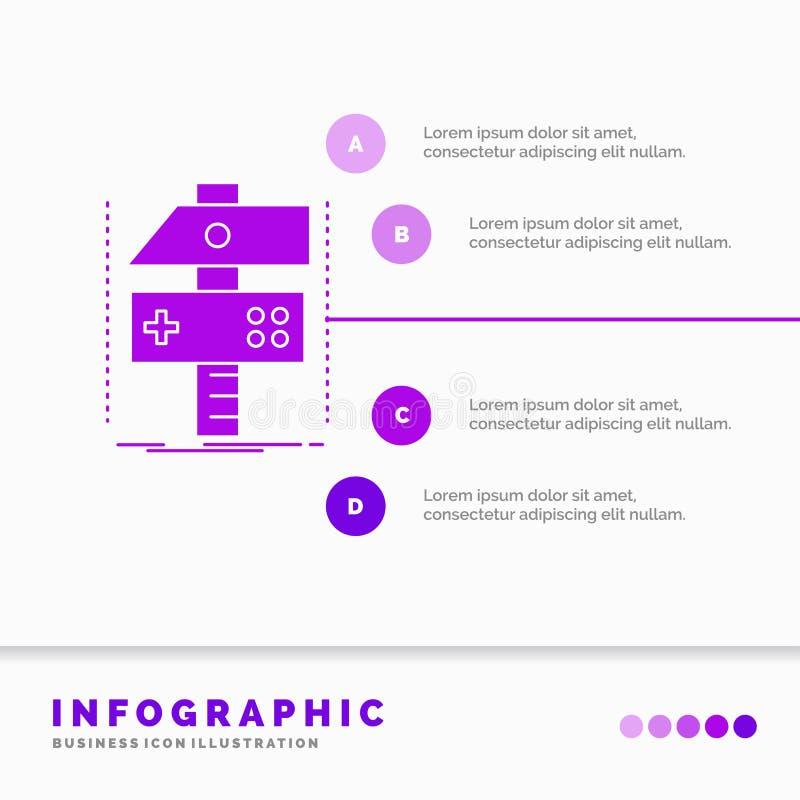 Χτίστε, τέχνη, αναπτυχθείτε, υπεύθυνος για την ανάπτυξη, πρότυπο Infographics παιχνιδιών για τον ιστοχώρο και παρουσίαση r απεικόνιση αποθεμάτων