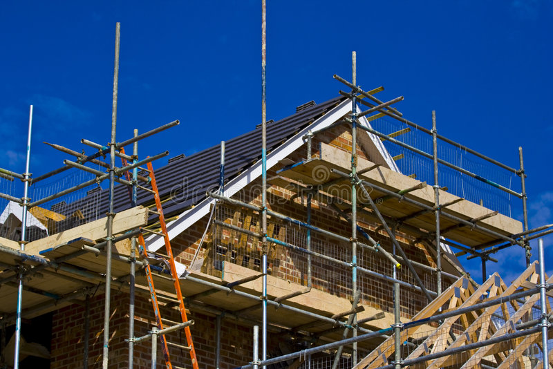 χτίστε το σπίτι νέο στοκ φωτογραφίες με δικαίωμα ελεύθερης χρήσης