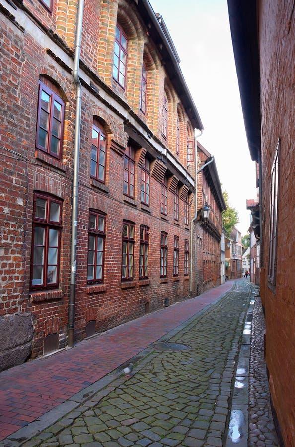 Χτισμένες τούβλο εντυπώσεις - Ι - Lueneburg στοκ φωτογραφία με δικαίωμα ελεύθερης χρήσης