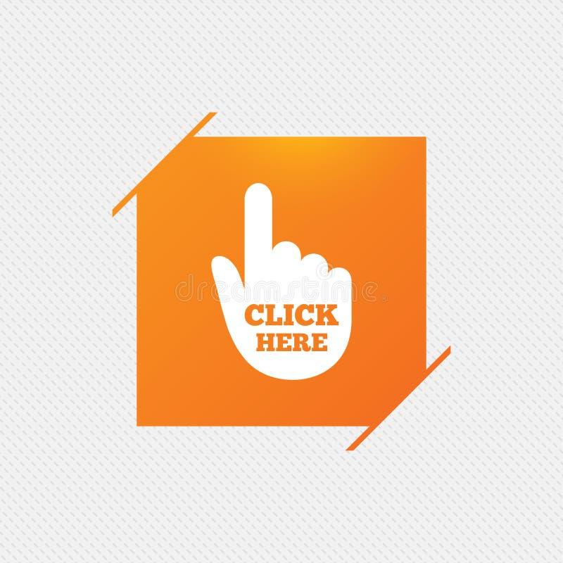 Χτυπήστε εδώ το εικονίδιο σημαδιών χεριών Πιέστε το κουμπί απεικόνιση αποθεμάτων