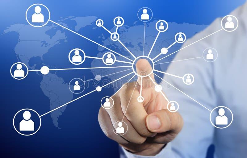 Χτυπώντας εικονίδιο σύνδεσης επιχειρηματιών στοκ φωτογραφίες