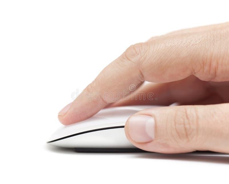Χτυπώντας ποντίκι υπολογιστών στοκ φωτογραφία με δικαίωμα ελεύθερης χρήσης