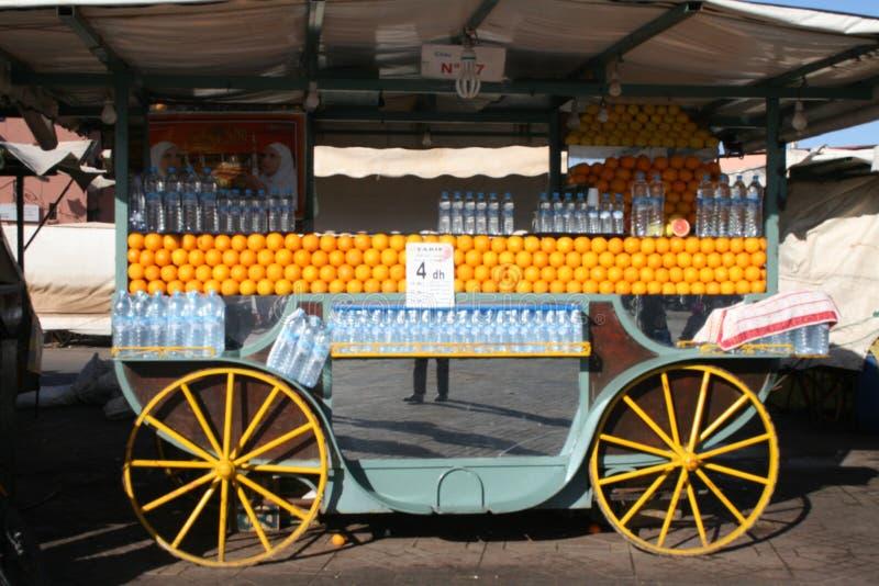 Χυμός από πορτοκάλι στο Μαρόκο στοκ φωτογραφία