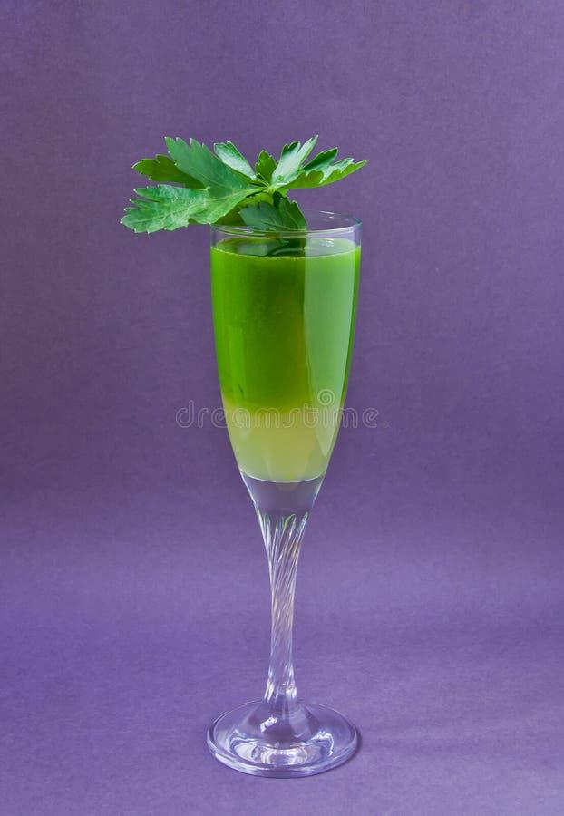 Χυμός από τα ώριμα μήλα, σέλινο, μαϊντανός, πράσινος, νόστιμος στοκ φωτογραφία με δικαίωμα ελεύθερης χρήσης