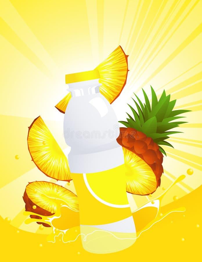 χυμός μπουκαλιών pinaeapple ελεύθερη απεικόνιση δικαιώματος