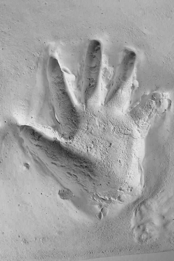 χυτό παιδί handprint λίγο λευκό α&sigm στοκ φωτογραφία με δικαίωμα ελεύθερης χρήσης