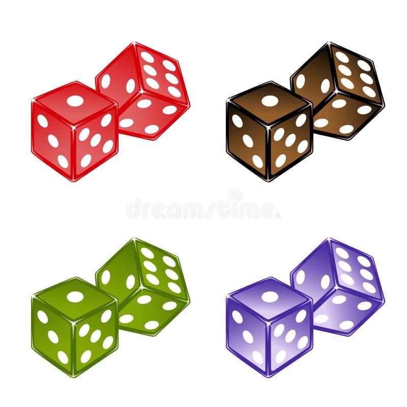 Χωρίζει σε τετράγωνα το σύνολο διανυσματική απεικόνιση