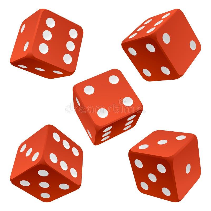 χωρίστε σε τετράγωνα το κόκκινο καθορισμένο διάνυσμα εικονιδίων διανυσματική απεικόνιση