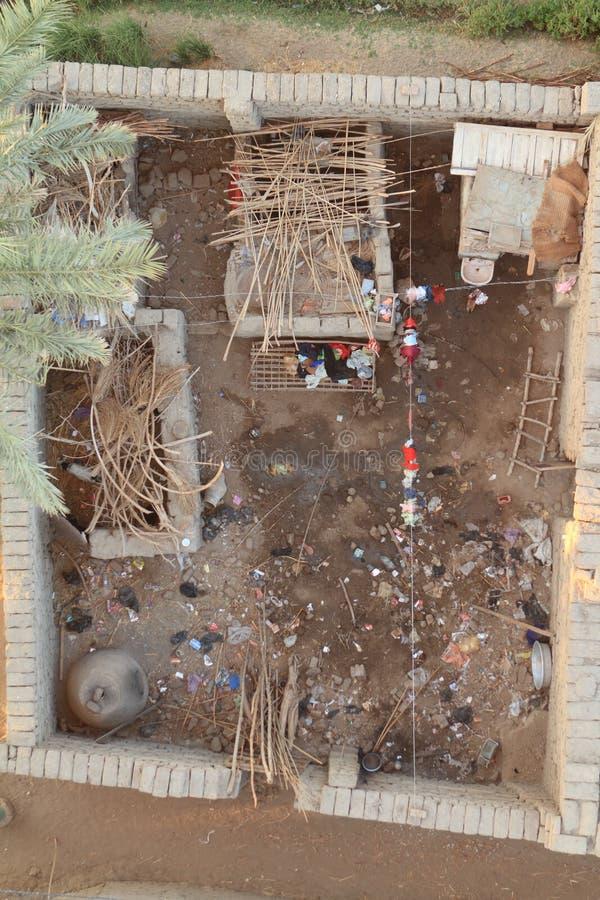 Χωριά κοντά σε Aswan στην Αίγυπτο στοκ φωτογραφία