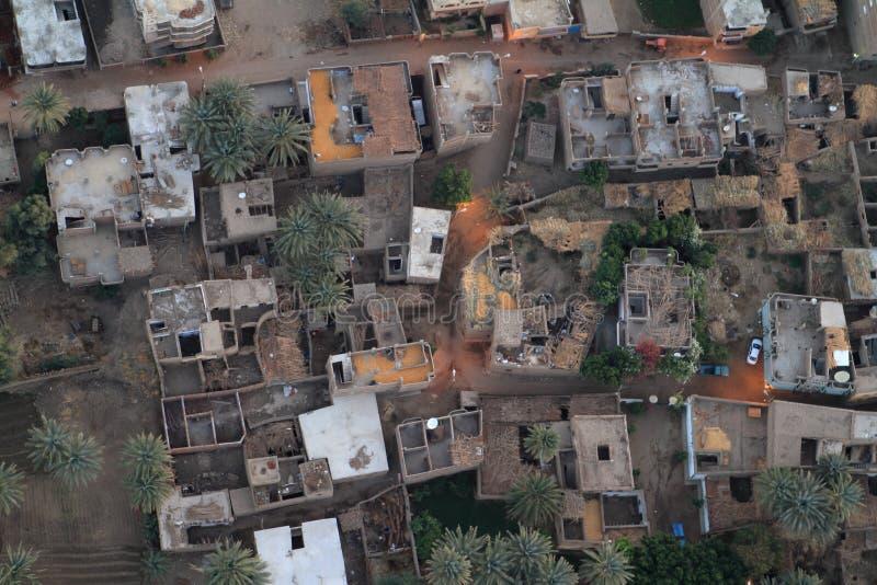 Χωριά κοντά σε Aswan στην Αίγυπτο στοκ εικόνα με δικαίωμα ελεύθερης χρήσης