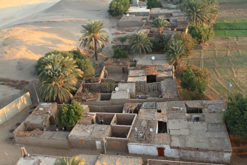 Χωριά κοντά σε Aswan στην Αίγυπτο στοκ εικόνες
