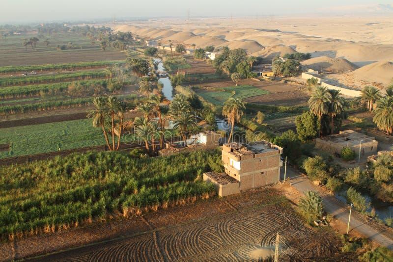 Χωριά κοντά σε Aswan στην Αίγυπτο στοκ φωτογραφία με δικαίωμα ελεύθερης χρήσης