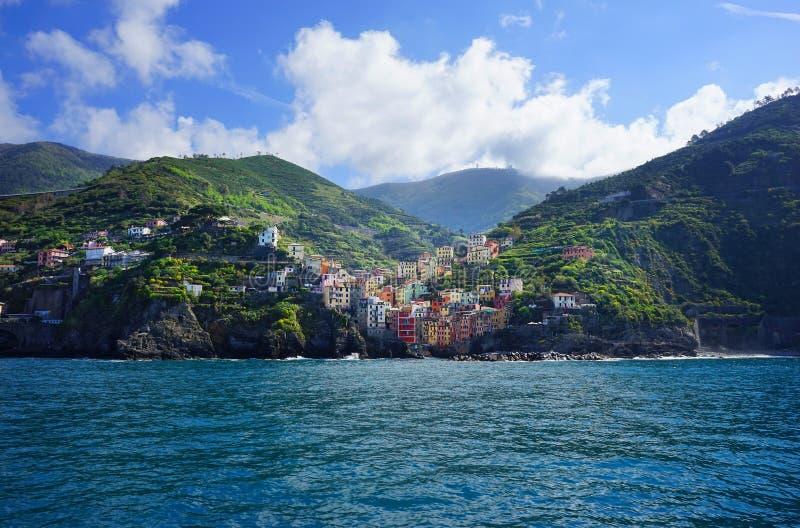 Χωριά στην ακτή της επαρχίας Λα Spezia στη Λιγυρία, Ιταλία στοκ εικόνες