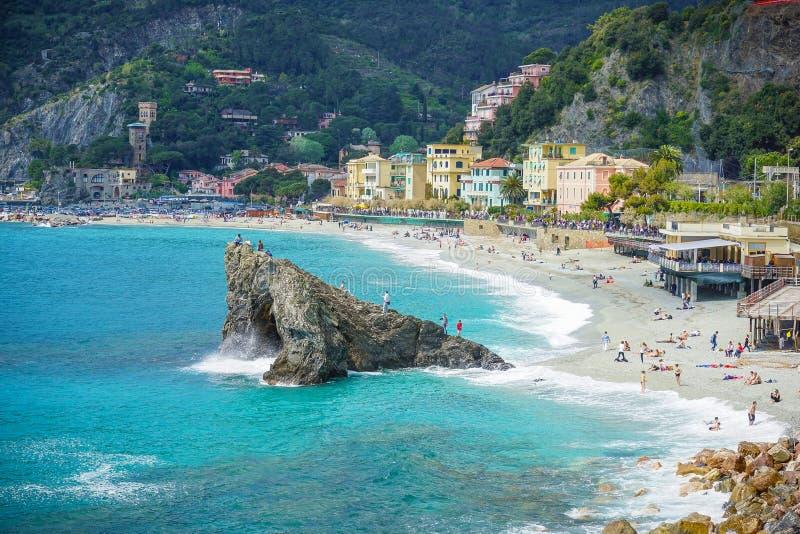 Χωριά στην ακτή της επαρχίας Λα Spezia στη Λιγυρία, Ιταλία στοκ φωτογραφίες
