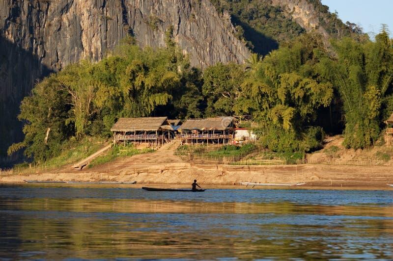 χωρικοί ποταμών του Λάος mek στοκ εικόνες