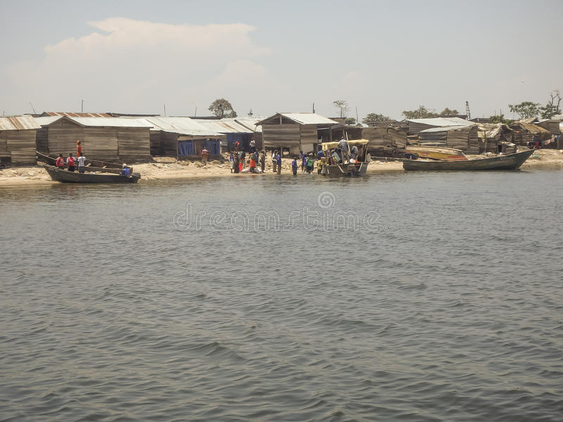 Χωρικοί στο νησί Ngamba, Ουγκάντα, Αφρική στοκ εικόνες με δικαίωμα ελεύθερης χρήσης