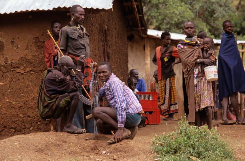 Χωρικοί Karamojong, Ουγκάντα στοκ φωτογραφία με δικαίωμα ελεύθερης χρήσης