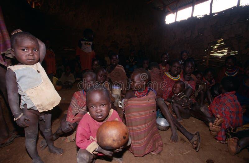Χωρικοί Karamojong, Ουγκάντα στοκ φωτογραφία