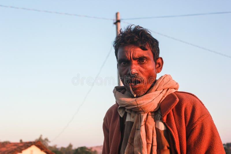 Χωρικός από κάποιο μικροσκοπικό χωριό του Rajasthan, Ινδία στοκ φωτογραφίες με δικαίωμα ελεύθερης χρήσης