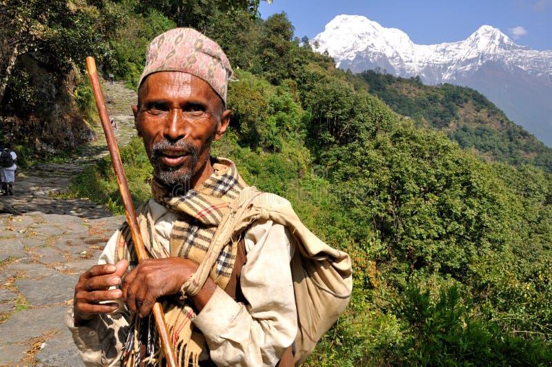Χωρικός στα Ιμαλάια στοκ εικόνα με δικαίωμα ελεύθερης χρήσης