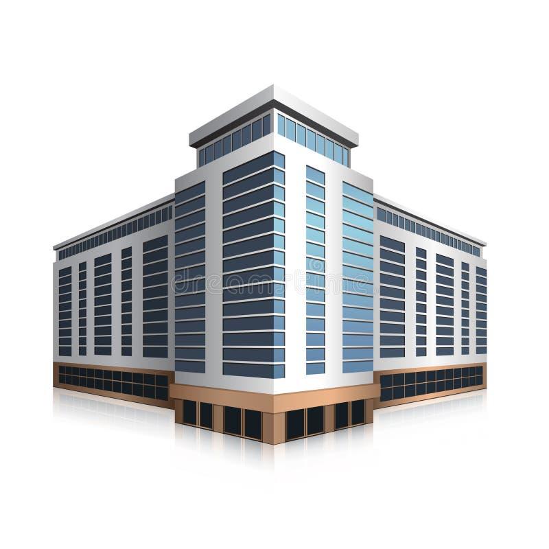 Χωριστά μόνιμο κτίριο γραφείων, εμπορικό κέντρο ελεύθερη απεικόνιση δικαιώματος