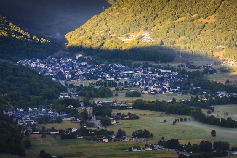 Χωριό Αγίου Lary Soulan, Γαλλία στοκ φωτογραφία