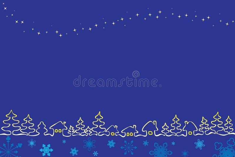χωριό αστεριών Χριστουγέν&n στοκ εικόνα με δικαίωμα ελεύθερης χρήσης