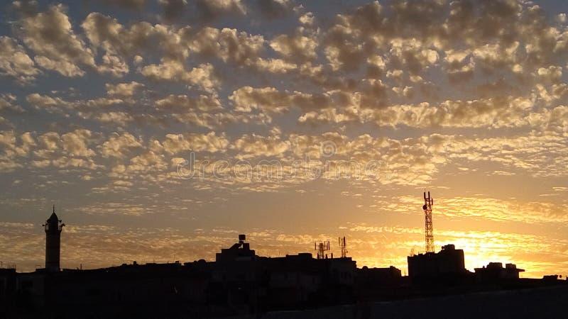 Χωριό ηλιοβασιλέματος της Ιορδανίας Hashmiyyah ajloun στοκ φωτογραφία