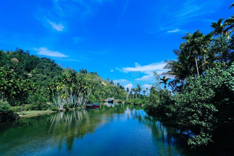 Χωριό Ινδονησία Mandeh στοκ εικόνες