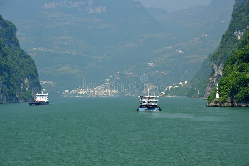 Χωριό κατά μήκος Yangtze στοκ φωτογραφίες με δικαίωμα ελεύθερης χρήσης