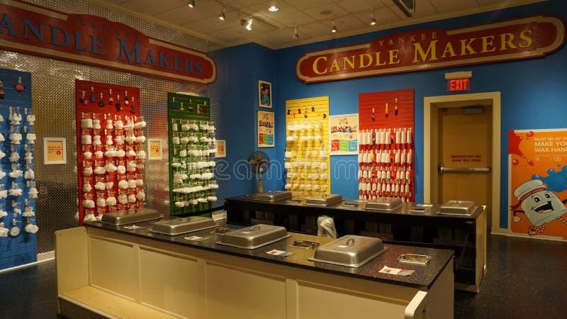 Χωριό κεριών Αμερικανού σε Williamsburg, Βιρτζίνια στοκ εικόνες