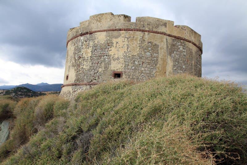 χωριό πύργων της Ιταλίας Σαρδηνία bosa στοκ φωτογραφίες με δικαίωμα ελεύθερης χρήσης
