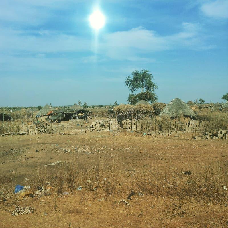 Χωριό στο kidira tambacounda στοκ εικόνες